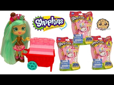 Complete Full Set Of All 5 Shopkins Plush Hangers Plushies Surprise Blind Bags - Cookieswirlc Video