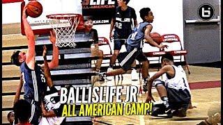 Middle Schoolers BREAKING ANKLES & Getting Buckets! Ballislife Jr All American Camp Mixtape!