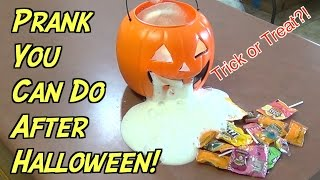 Candy Prank You Can Do After Trick or Treating- HOW TO PRANK (Evil Booby Traps