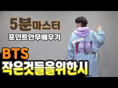 BTS (방탄소년단) 작은 것들을 위한 시(Boy With Luv). 5분마스터 포인트댄스 거울모드 안무배우기 (point dance mirror tutorial)