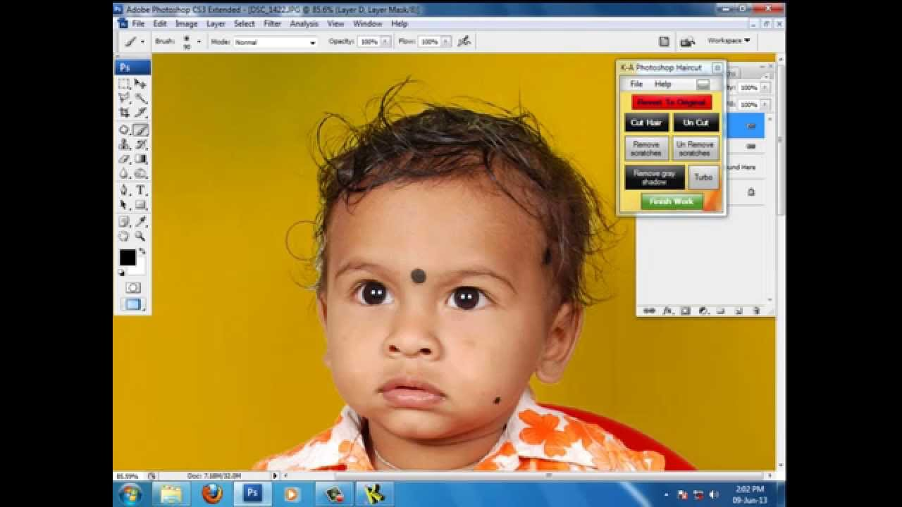 KA Photoshop Haircut Demo 1 - YouTube