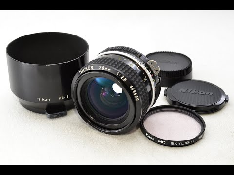 Recommend film camera collection Nikon NIKKOR Ai 28mm F/2.8 MF Wide Angle Prime Lens From Japan