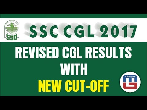 SSC CGL Tier I Revised Result and New Cut Off Declared