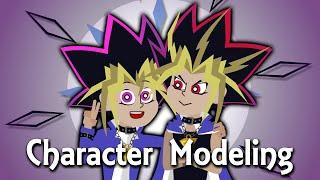 Yugi and Yami - Character Modeling | Yu-Gi-Oh! | April ArtAnimation