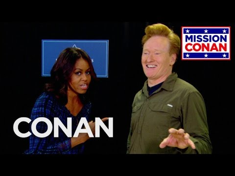 Michelle Obama & Conan Join Forces For Military Families - CONAN on TBS