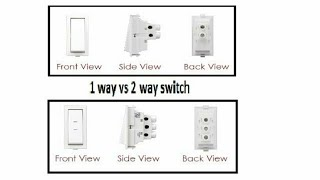 1 way vs 2 way switch//basic of 1 way vs 2 way switch//working of 1 way vs 2 way switch