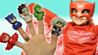 Finger Family Nursery Rhymes Song | Learn Characters with the PJ Masks Finger Family with Varvara