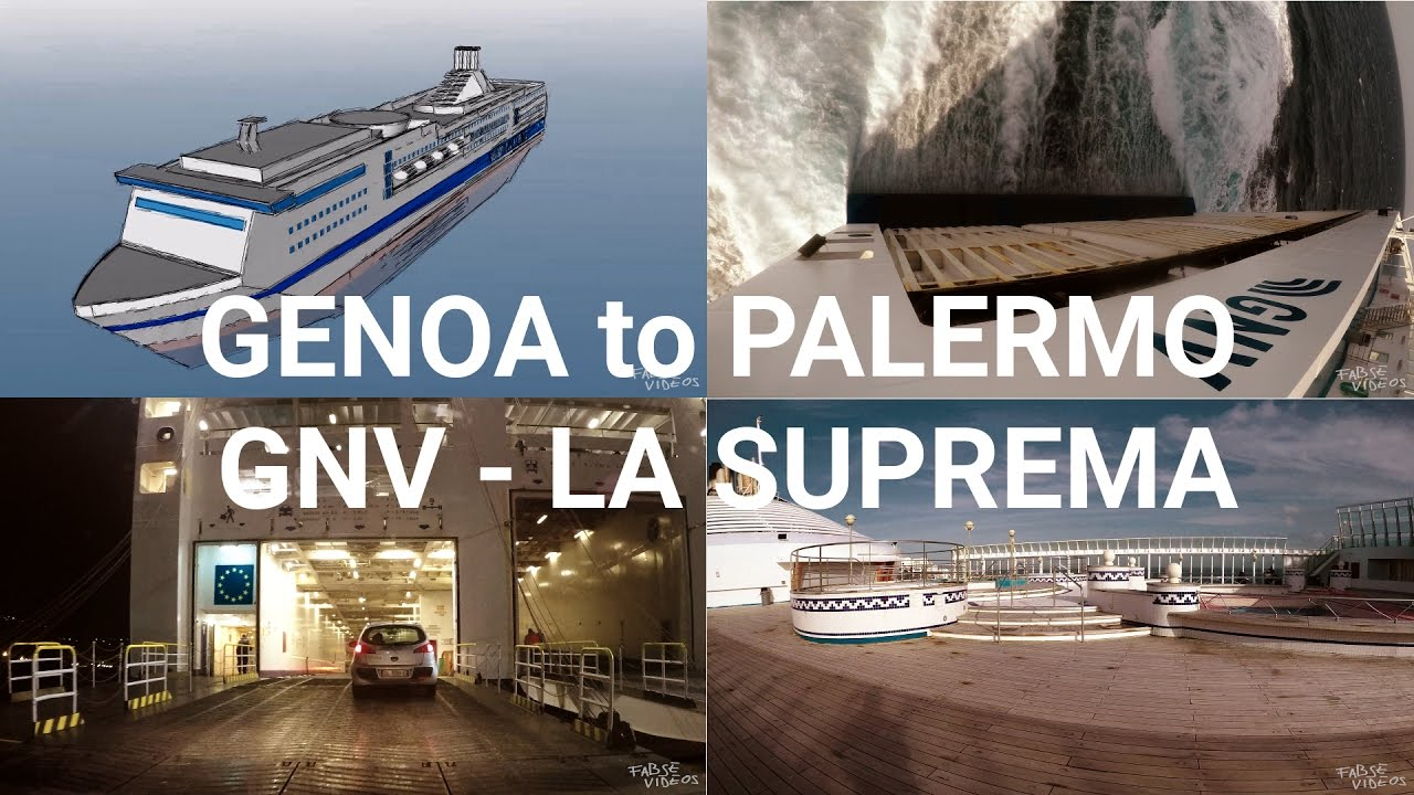 genoa to palermo a journey by ferry la suprema gnv youtube. Black Bedroom Furniture Sets. Home Design Ideas