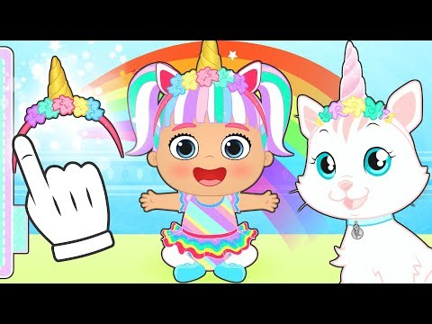 BABY LILY AND KIRA THE CAT 😻 Dress up as Unicorns 🦄 Educational Cartoons