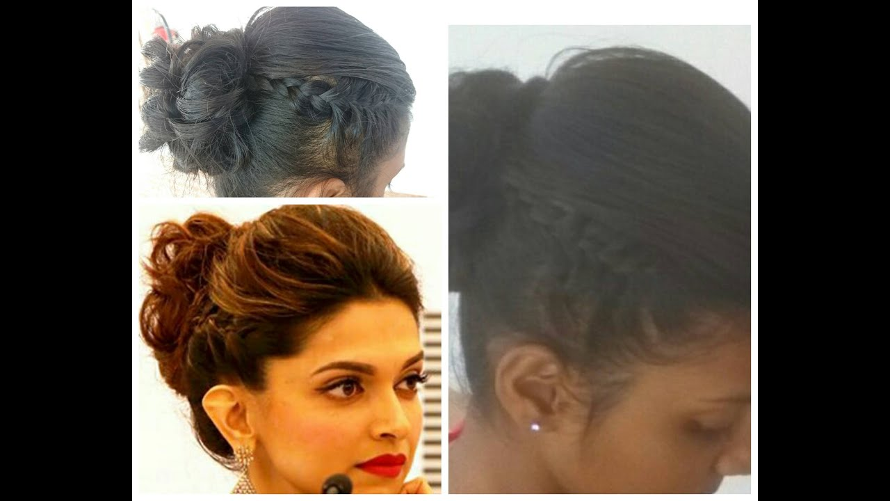 Hairstyle Inspired By Deepika Padukone Side Braid Prom Hair