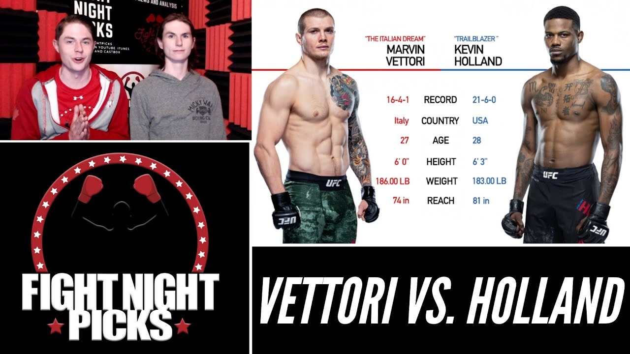 UFC Fight Night predictions -- Marvin Vettori vs. Kevin Holland: Fight ...