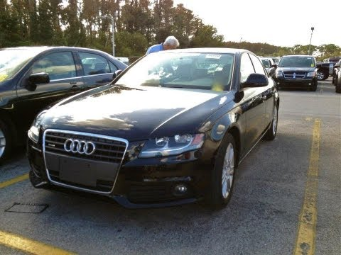 2009 Audi A4 Quattro 2.0T Start Up, Quick Tour, & Rev With Exhaust View - 32K