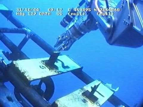 ROV Turning valves with sharks arround