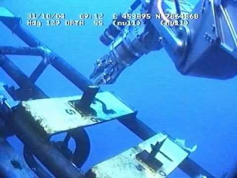 ROV Turning valves with sharks arround