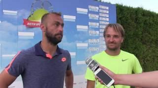 Roman Jebavý a David Novák po prvním kole deblu na turnaji Futures v Pardubicích