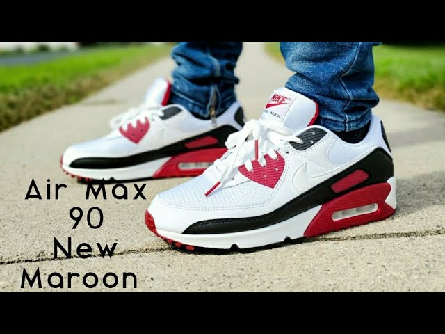 Air Max 90 New Maroon 2020 Unboxing & On Feet - YouTube