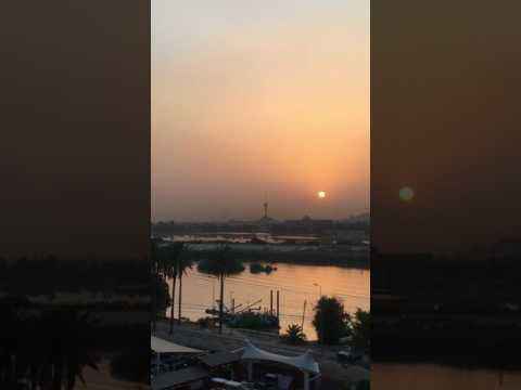 Sexy Sunset in Tigris River Baghdad and very HOT