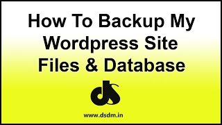 How to Backup My Wordpress Site Files and Database With Cpanel