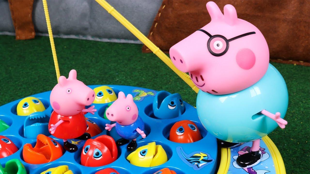Peppa Pig Juguetes en Español 2 | Papá Pig y Peppa van de Pesca