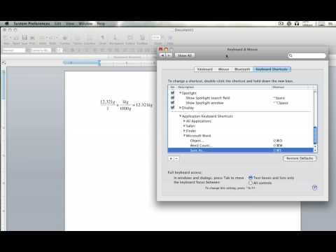 Equation Editor Microsoft Word 2008 For Mac!!!!!!! Keyboard Shortcut Tutorial(HD)