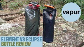 Vapur Element vs Eclipse travel water bottle review