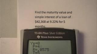 Simple Interest - Maturity Value