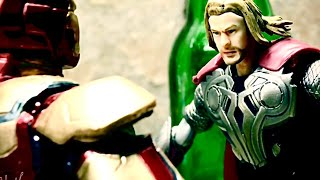 Thor vs Iron man stopmotion  advenger video clip