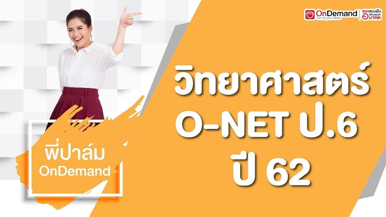 Download ติว O-NET ป.6 - วิทยาศาสตร์ ปี 62 by พี่ปาล์ม OnDemand