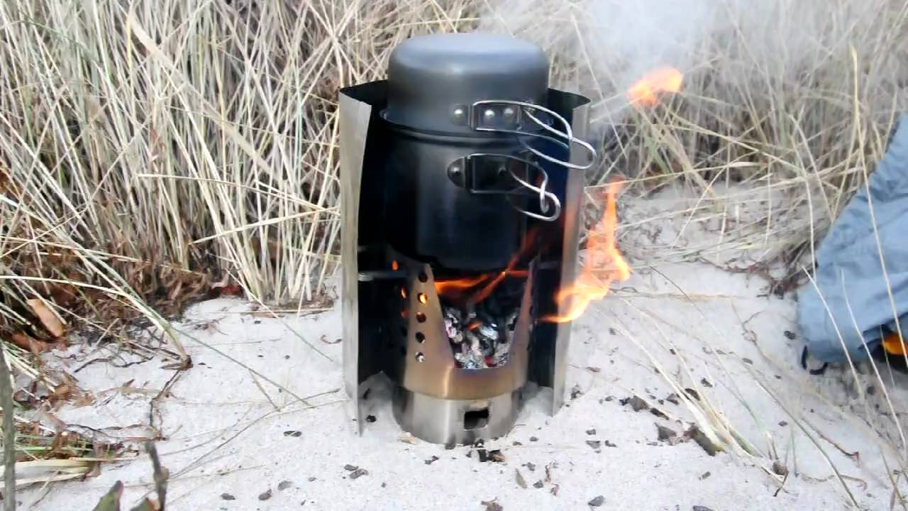 Ikea Hobo Stove Boiling Water On The Beach Youtube