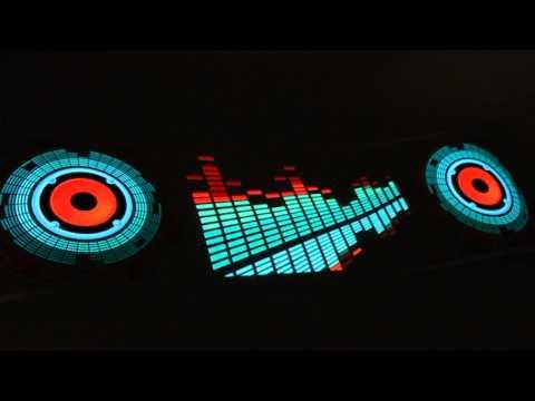 90x25cm Car Sticker Music Rhythm LED Lights Lamp Sound Activated Equalizer horn CE0007