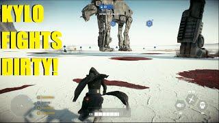 Star Wars Battlefront 2 - Kylo couldn't kill Anakin so he killed his son! Kylo Ren Killstreak!