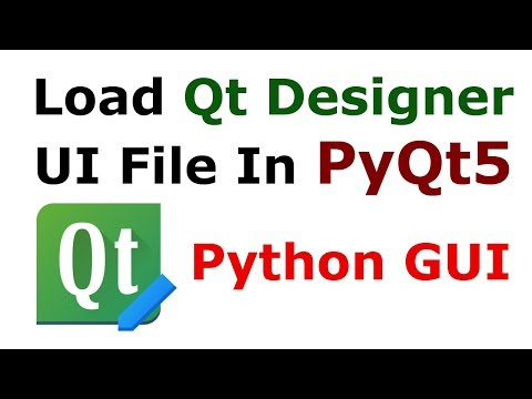 PyQt5 How To Load Qt Designer UI File | Python GUI Tutorials