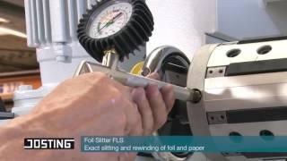 Станок FLS Josting Kuper резки рулонных материалов на полосы