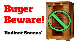 Radiant Saunas Is NOT Radiant Health Saunas - Amazon Knock-Off Sauna Brand By Blue Wave Saunas