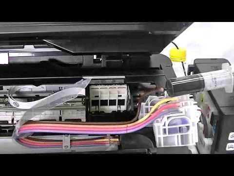 Cara membuang dakwat dari printer epson l210