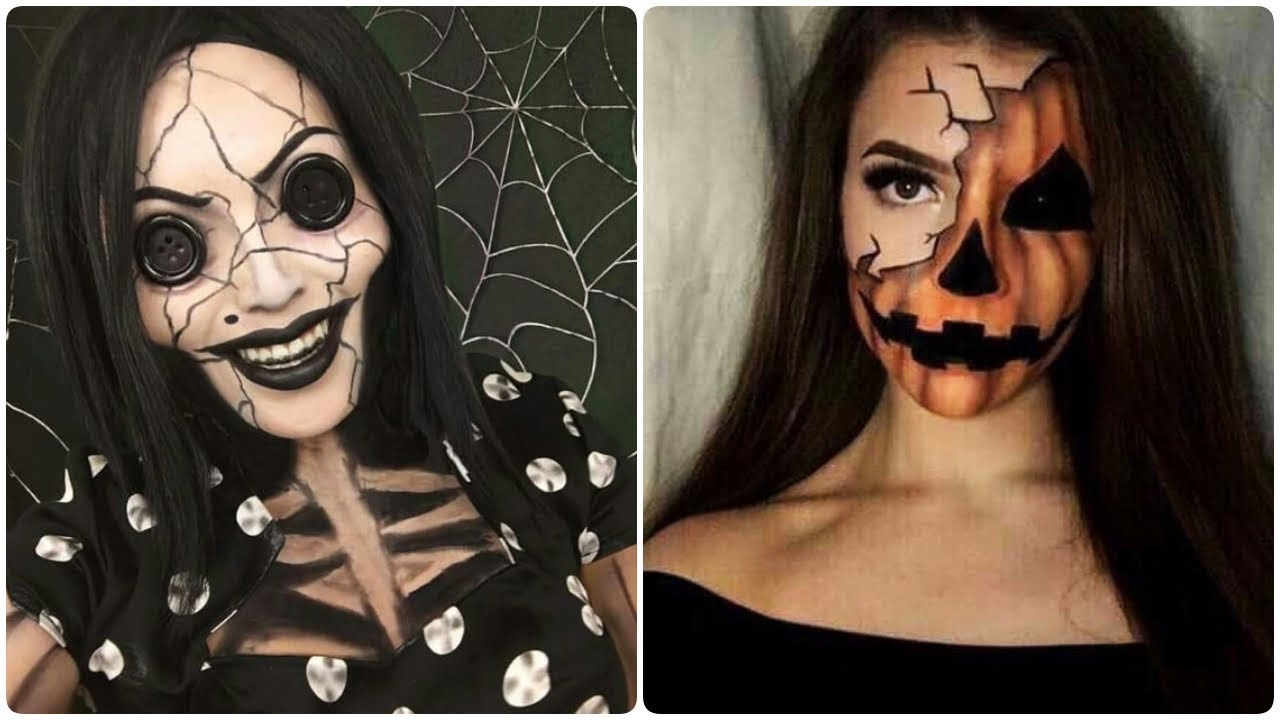 top 5 viral makeup videos 💄 halloween makeup tutorial 😬 best