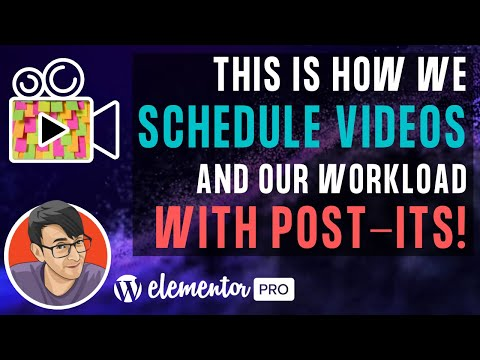 This is How We Schedule Videos and our Workload with Post-Its
