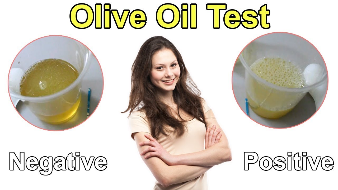 Pregnancy Test with vegetable oil (Olive Oil) - Homemade ...