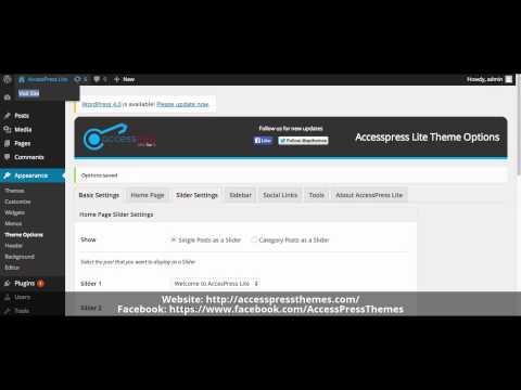 How to Upload Slider – Free WordPress Theme – AccessPress Lite