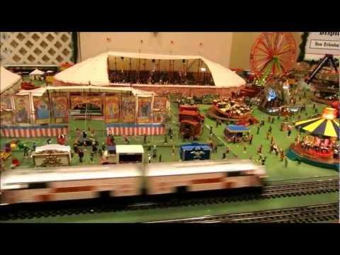 Model Railroad Train & Circus Display at Saratoga Festival of Trees-2012