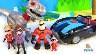#INCREDIBLES 2 Суперсемейка против ДИНОЗАВРА! Видео для детей! Мультик с My Toys Potap