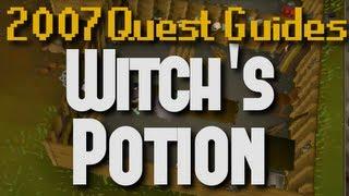 Runescape 2007 Quest Guides: Witch's Potion