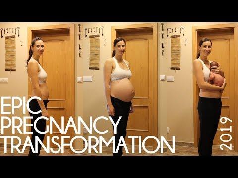 baby kroupa - epic pregnancy transformation - time lapse ▶3:40