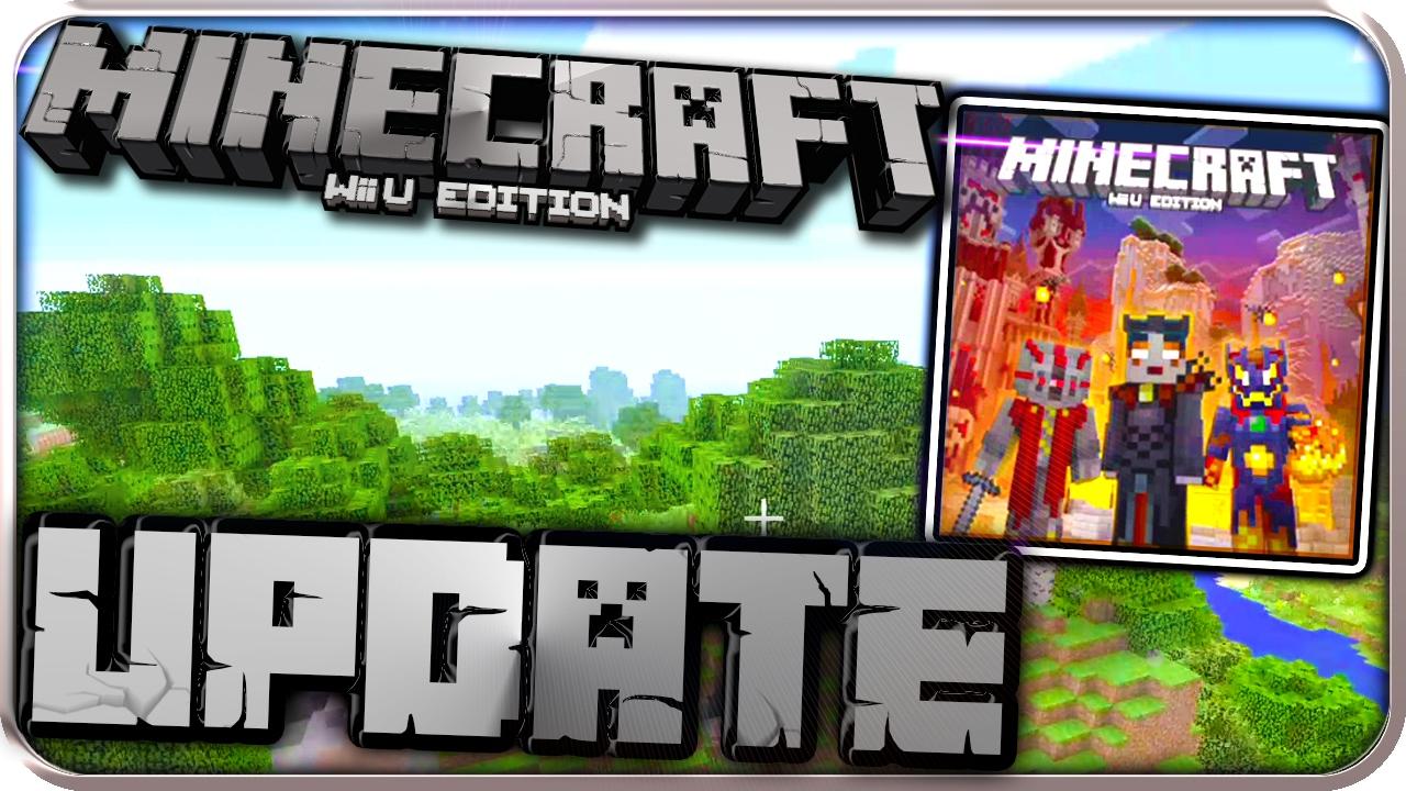 MINECRAFT Wii U EDITION UPDATE Part SCHURKENSKINPAKET PATCHES - Minecraft wii u server erstellen deutsch