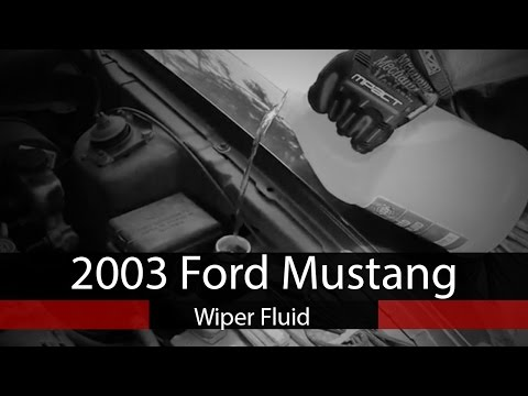 2003 Ford Mustang - How to add windshield wiper fluid