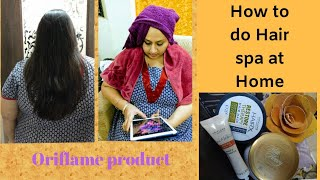 How to do Hair spa at home with Oriflame products||Oriflame india||ketki bhatti||saksham||