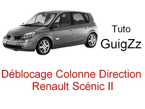 tuto d blocage colonne de direction scenic ii youtube. Black Bedroom Furniture Sets. Home Design Ideas