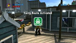 Lego City Undercover 100% Guide - Kings Court (overworld Area) - All Collectibles