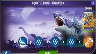 Jurassic World Game Mobile #104: Đại Chiến Aquatic tour new event 5 vs 15