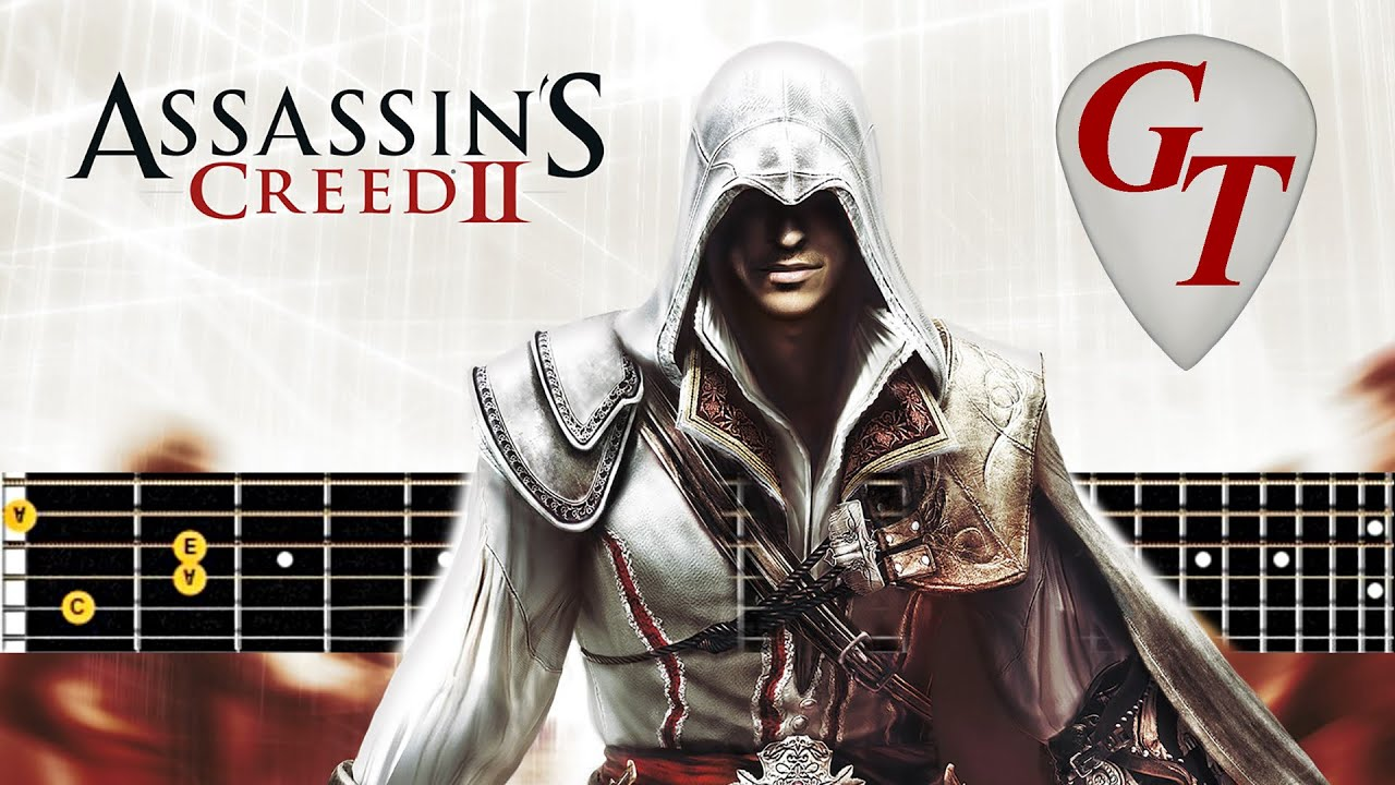 Assassin's Creed   Leonardo's Invention # Acoustic guitar lesson note tabs